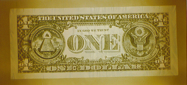 1 dollar bill us. U.S. One Dollar Bill - Front